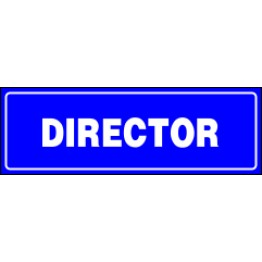 DIRECTOR NAME PLATE