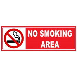 No Smoking Area Board